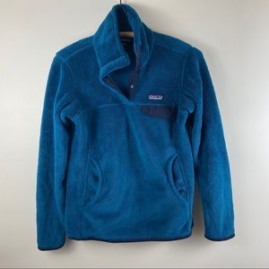 Patagonia Re-Tool Snap-T Blue Pullover Sweater XS